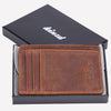 crazy horse front pocket wallet