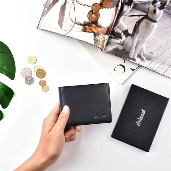 Napa Leather Slim Trifold Wallet