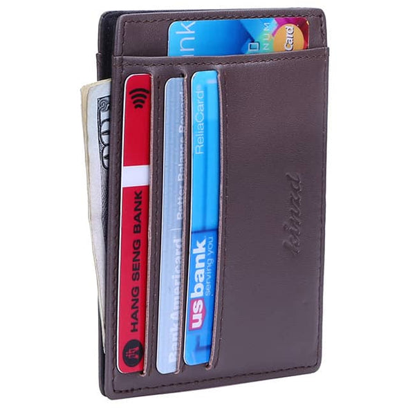 Napa Leather Minimalist Mens Pocket Wallet