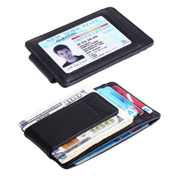 Slim ID Window Money Clip Wallet