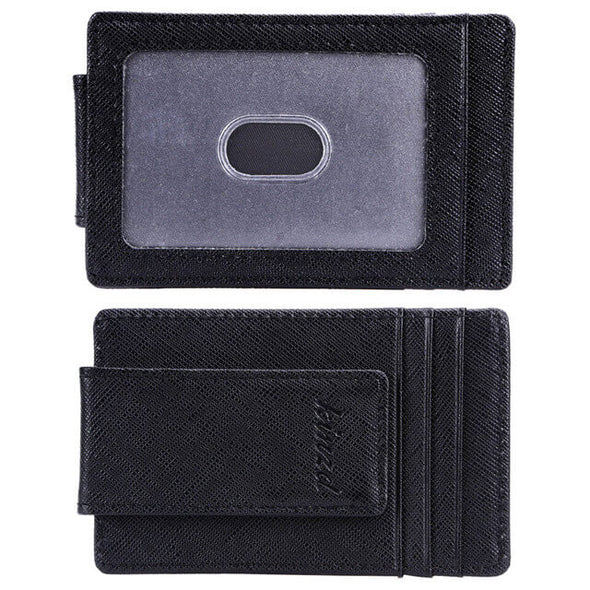 Crosshatch Leather Money Clip