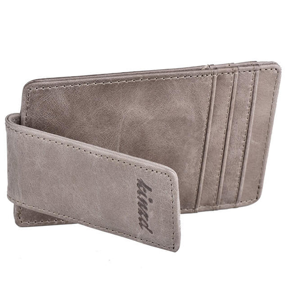 Oil Wax Money Clip Front Pocket Wallet