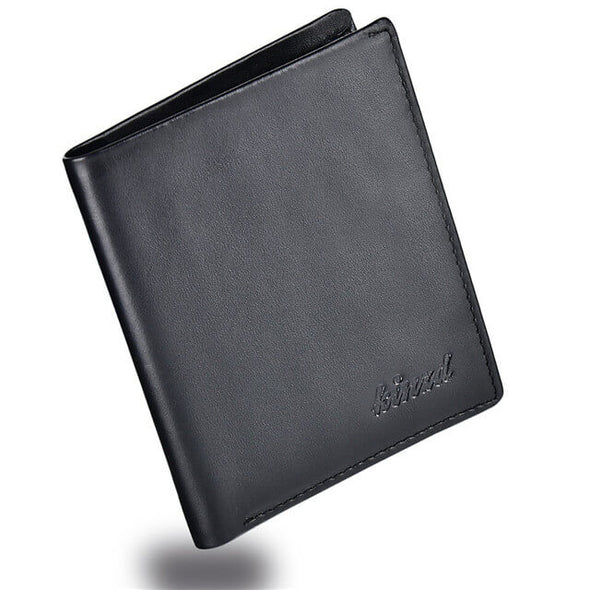 Nappa Leather Slim Vertical Bifold Wallet