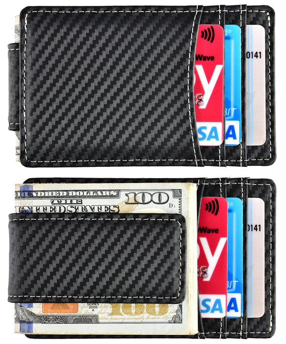 Carbon Fiber Money Clip Card Holder
