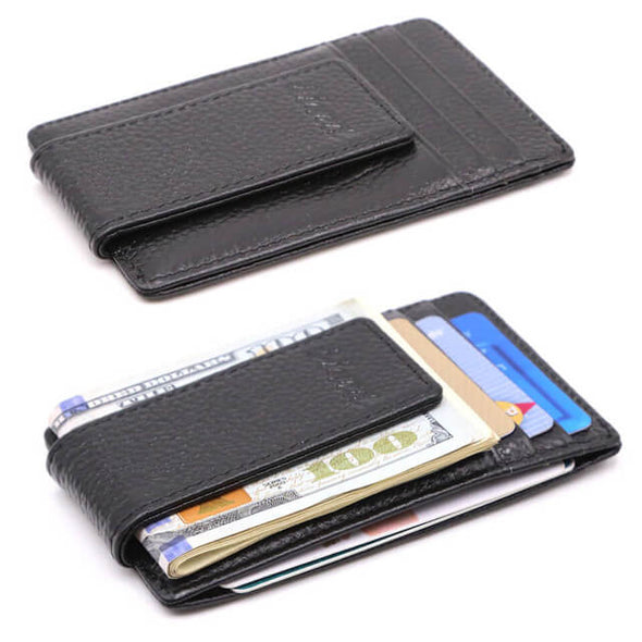 Litch Pattern Money Clip Wallet ID Holder