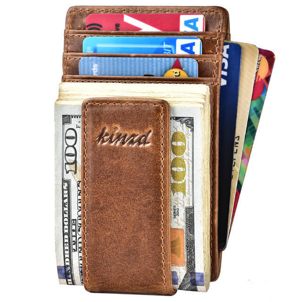minimalist front pocket money clip wallet