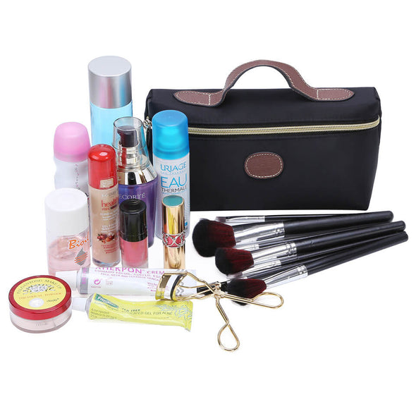 Black Cosmetic Bag Women Portable Makeup Bag