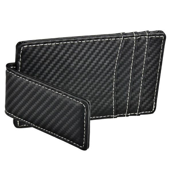 Carbon Fiber Money Clip with ID Window