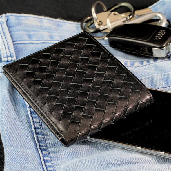Nappa Leather Mens Trifold Genuine Leather Wallet