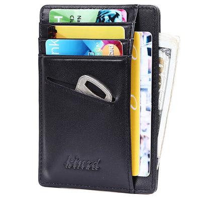 Black Slim Wallet with Key Holder