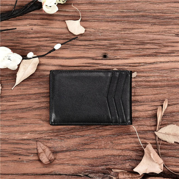 Napa Leather Mens Bifold Money Clip Wallet RFID