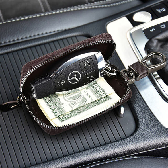 Carbon Fiber Car Keychain