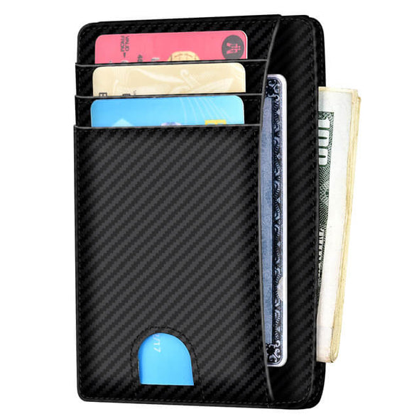 Carbon Fiber Minimalist ID Wallet With Finger Groove