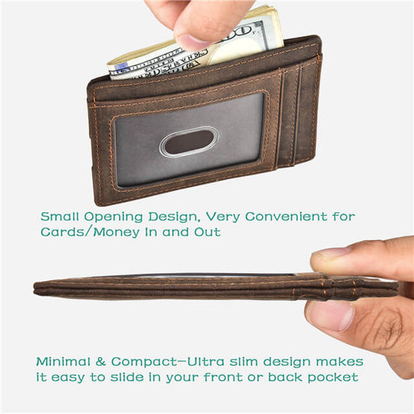 Minimalist ID Wallet With Finger Groove