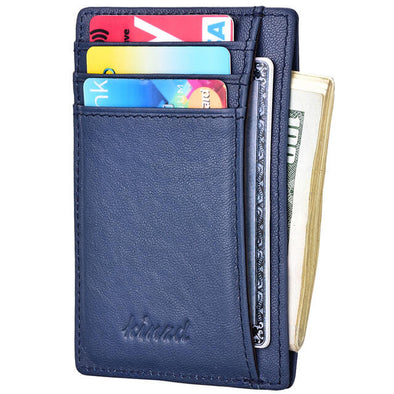 vegetable tanning slim wallet