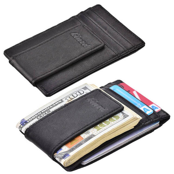 vegetable tanning slim money clip wallet
