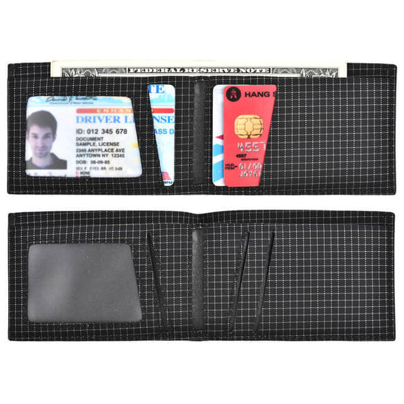 Carbon Fiber Waterproof Slim Bifold RFID Blocking Wallet