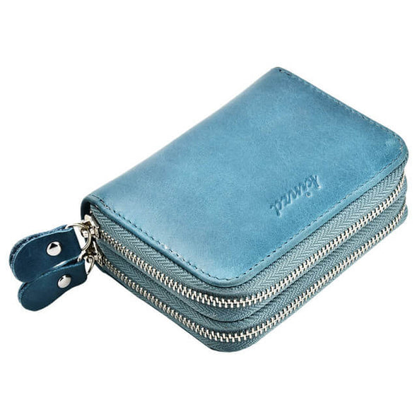 Blue Womens card holder wallet