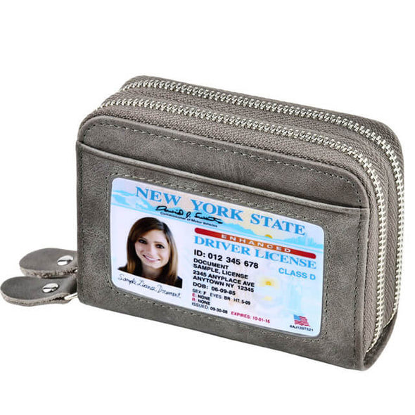 Gray Womens card holder wallet