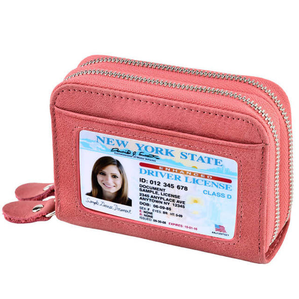 Pink Womens card holder wallet