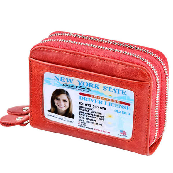 Red Womens card holder wallet