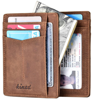 Magnets Genuine Leather RFID Blocking Slim Wallet