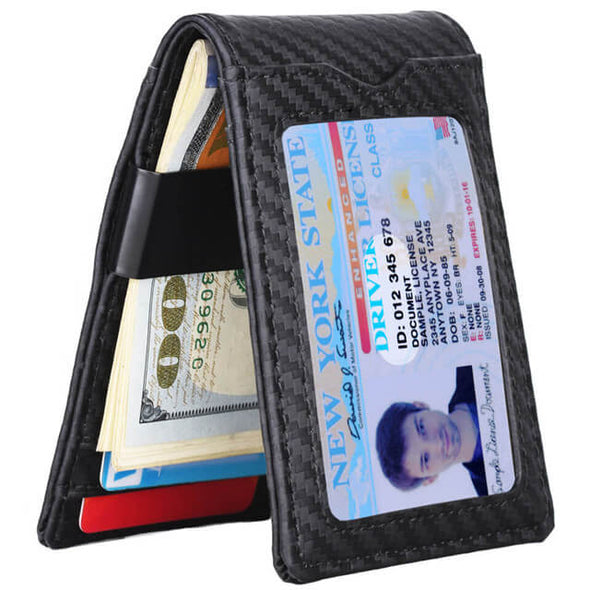 Carbon Fiber Minimalist Bifold Wallet for Men