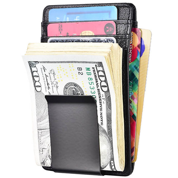 Carbon Fiber Money Clip Wallet ID Window