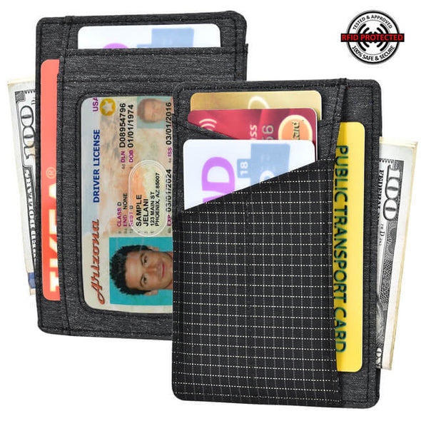 Waterproof Material Denim Minimalist RFID Blocking Wallet
