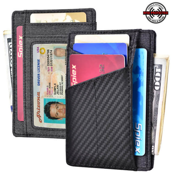 Carbon Fiber Denim Minimalist RFID Blocking Wallet
