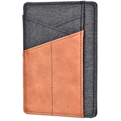 Denim Slim Wallet Minimalist RFID Blocking Front Pocket Wallet