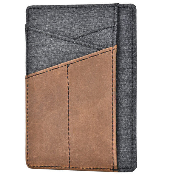 Crazy Horse Leather Denim Minimalist RFID Blocking Wallet