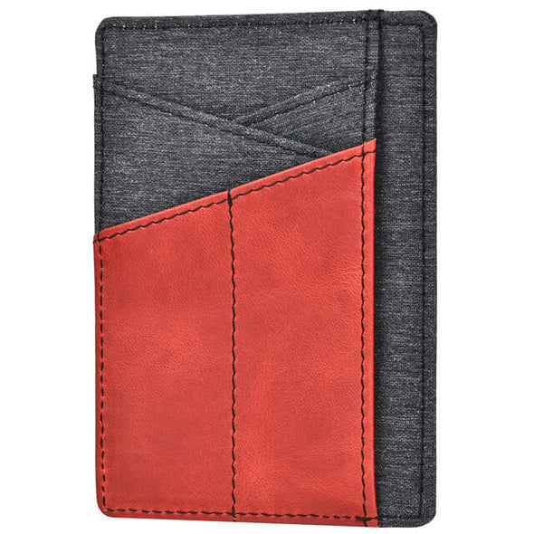 Oil Wax Leather Denim Minimalist RFID Blocking Wallet