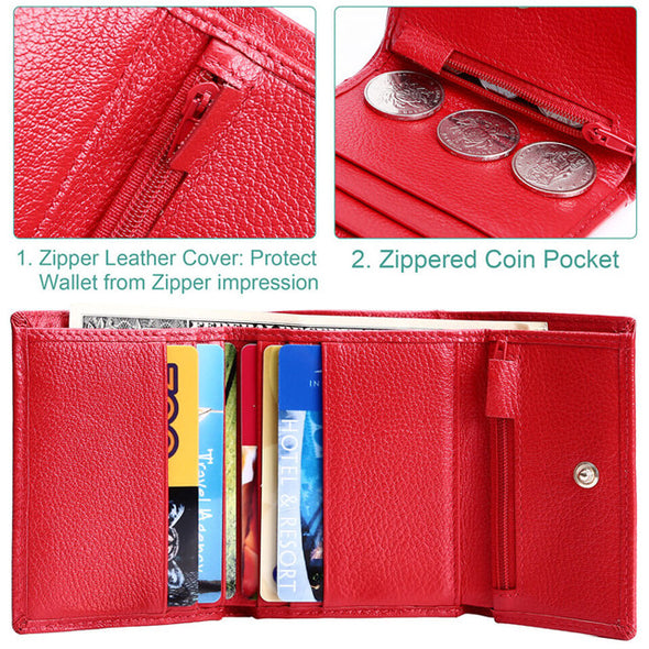 Ladies Trifold Luxury Leather Wallet