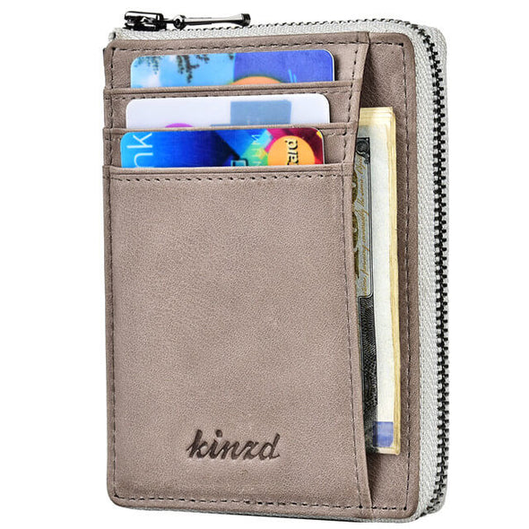 RFID Front Pocket Minimalist Leather Removable Wallet