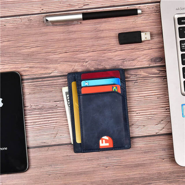 Blue Slim Minimalist wallet