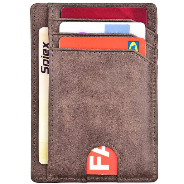 Brown Slim Minimalist wallet