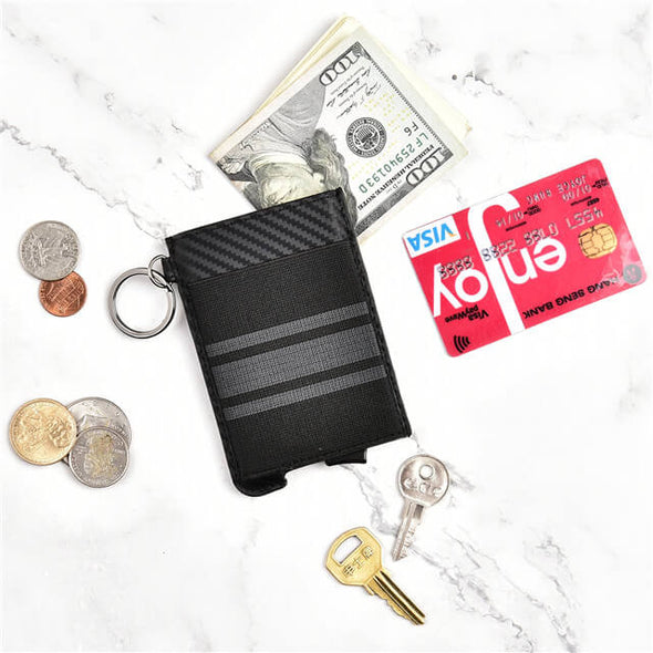 Minimalist Wallet RFID Blocking Slim Aluminum Money Clip