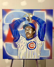 "Load image into Gallery viewer, ""FERGIE JENKINS"" - Original Painting by Matt Szczur (30x30)"