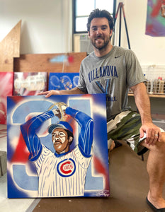"""FERGIE JENKINS"" - Original Painting by Matt Szczur (30x30)"