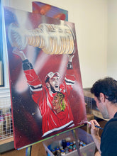 "Load image into Gallery viewer, ""TOEWS CUP"" - Original Painting by Matt Szczur (24x36)"