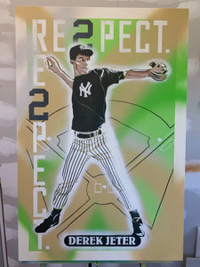 """1992 DRAFT PICK TOPPS DEREK JETER"" - Original Painting by Matt Szczur (24x36)"