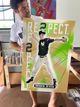"Load image into Gallery viewer, ""1992 DRAFT PICK TOPPS DEREK JETER"" - Original Painting by Matt Szczur (24x36)"