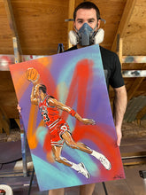 "Load image into Gallery viewer, ""JUMPMAN"" - Original Painting by Matt Szczur (24x36)"