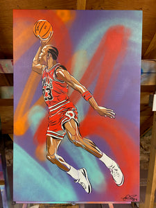 """JUMPMAN"" - Original Painting by Matt Szczur (24x36)"