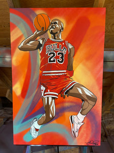 """AIR JORDAN"" - Original Painting by Matt Szczur (24x36)"