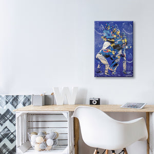 2016 Chicago Cubs World Series Canvas Print by Matt Szczur (26x18)