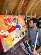 "Load image into Gallery viewer, ""HOME RUN KING"" - Original Painting by Matt Szczur (24x36)"