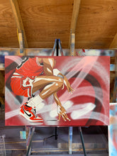 "Load image into Gallery viewer, ""MICHAEL JORDAN"" - Original Painting by Matt Szczur (24x36)"