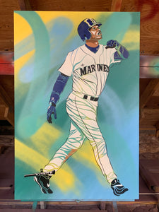"""THE KID"" - Original Painting by Matt Szczur (24x36)"